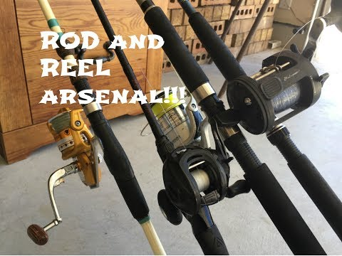 Rod And Reel ARSENAL !!!