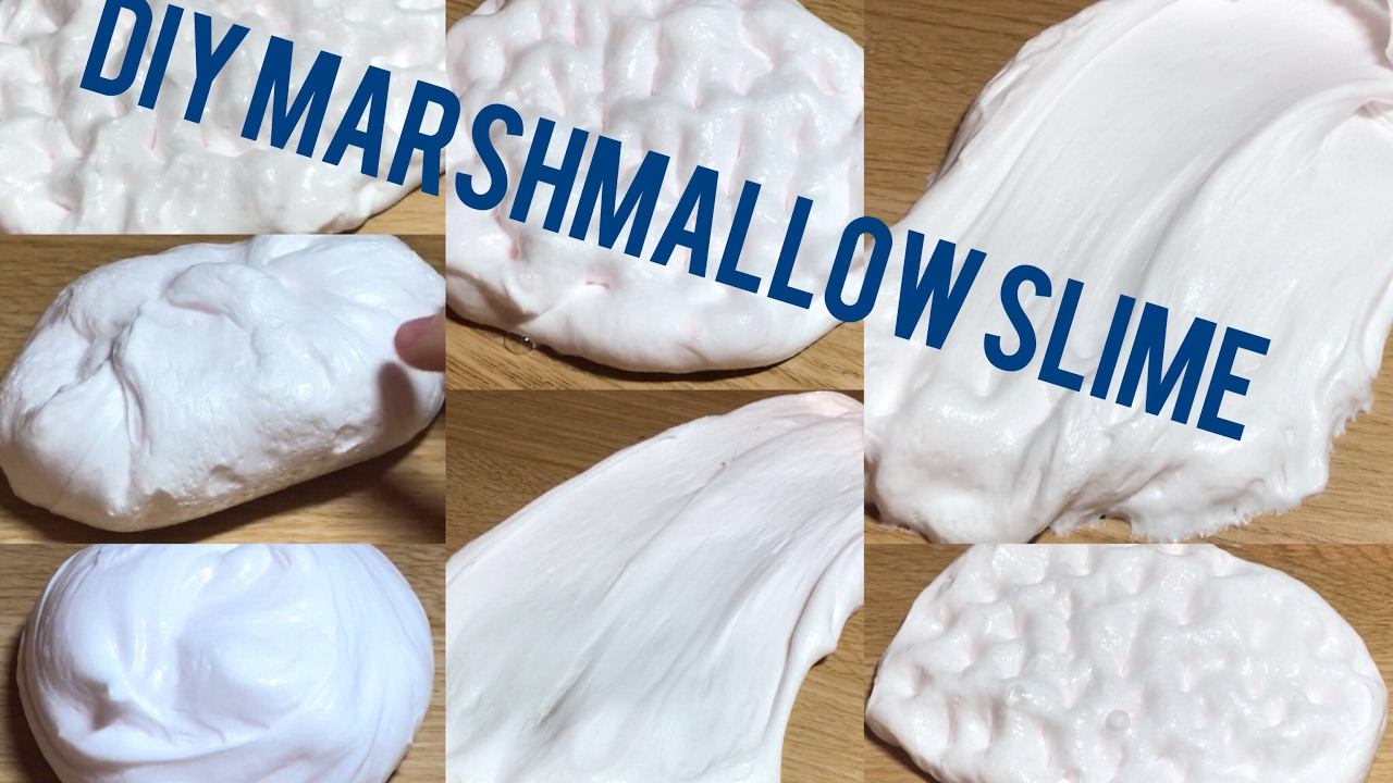 Diy  How To Make Marshmallowlike Fluffy Slime Without Borax Or Detergent  Or Cornstarch!