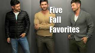 5 Fall Fashion Favorites | Men