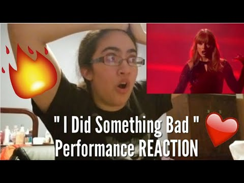 "Taylor Swift AMAs 2018 ""I Did Something Bad"" Performance REACTION!"