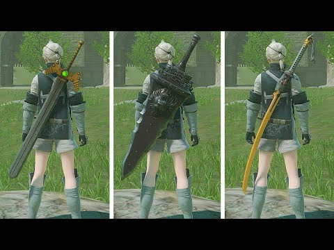 NieR Replicant ver.1.2247 - How To Get All The Weapons (First Half Of The Story)