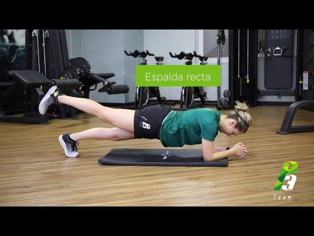 Plancha con elevación de pierna