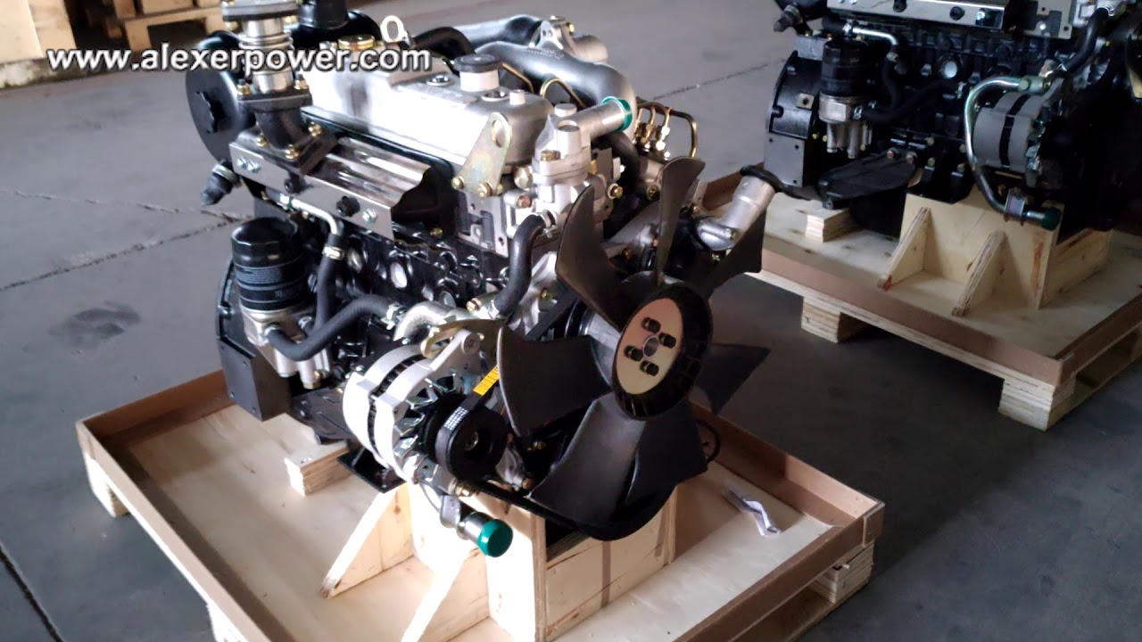 Isuzu 4JB1 diesel engine with radiator 24kw for generator from Japanese  technology made in china