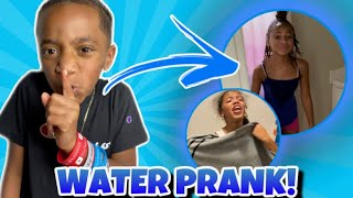 """EXTREME WATER PRANK ON """"THE LITT SISTERS"""" !!! ( THEY CRIED )"""