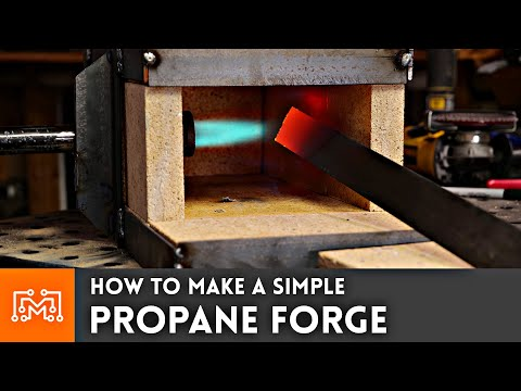 How to Make a Simple Propane Forge for Blacksmithing