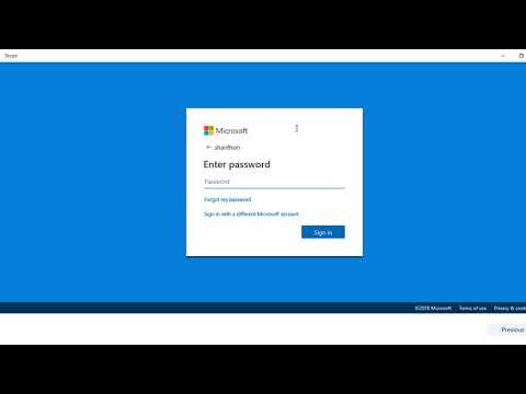Skype Login Account - Login Into Your Skype Account Using Microsoft Account