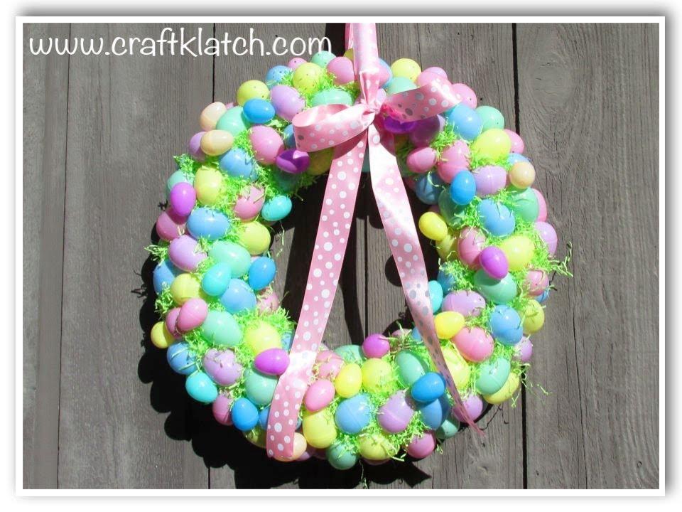 DIY Easter Egg Wreath Craft Klatch - YouTube
