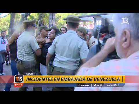 Detenidos por incidentes en embajada venezolana en Chile