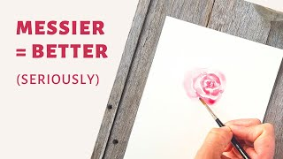 Watercolour roses made easy (I PROMISE!)