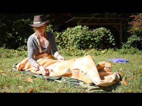 DIY Wool Blanket Sleep System- Camping/Bushcraft Bedroll