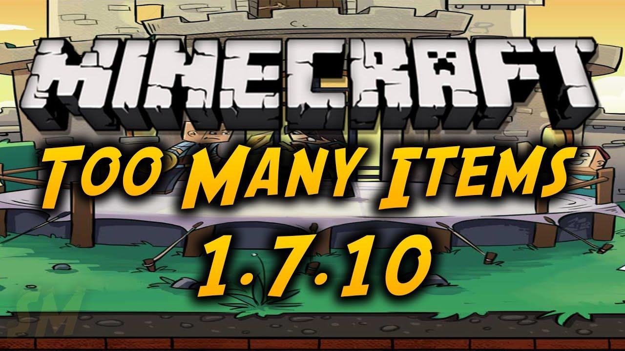 Minecraft 1. 7. 10 обзор двух модов: toomanyitems и craftguide youtube.
