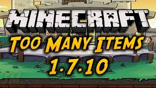 Minecraft - How To Install Too Many Items 1.7.10 Non Forge Version + Download [HD]