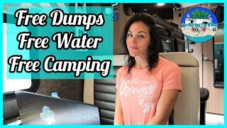How We Find Fŗee Camping, Free Water, and Free Dump Stations * Full-time RV Living *