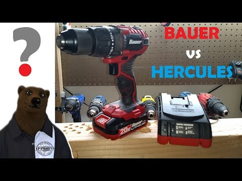 Bauer 20V Drill Driver vs Hercules (Battle of the Freights!)
