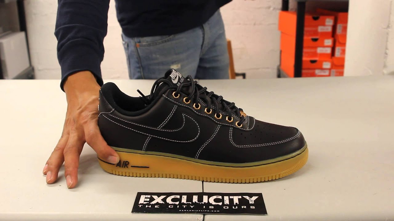 Nike Air Force 1 Low Black Gum