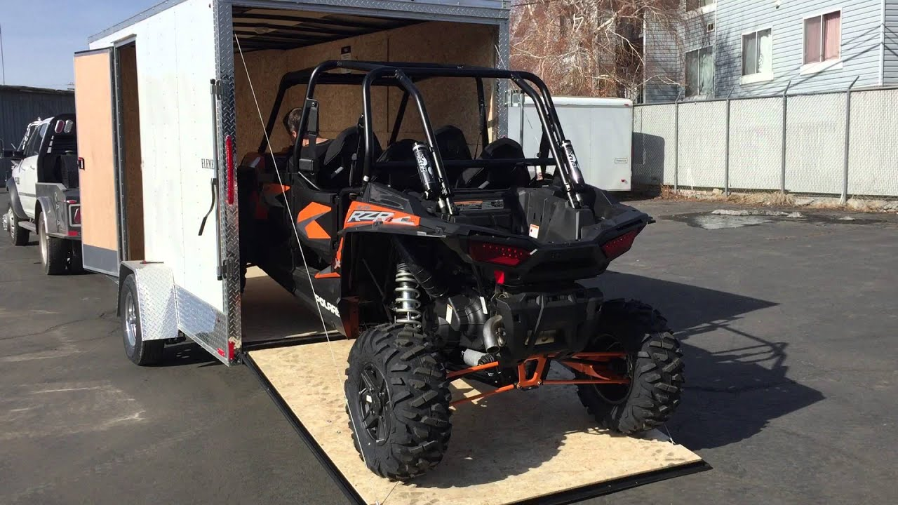 Polaris Side By Side >> 2016 RZR 4 1000 6.5x14' Look Trailer - YouTube