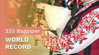 333 Bagpipes playing for the World Guinness Records - Sofia, Bulgaria