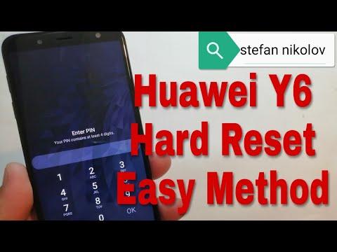 Hard reset Huawei Y6 (2018) ATU-L11  Remove pin, pattern