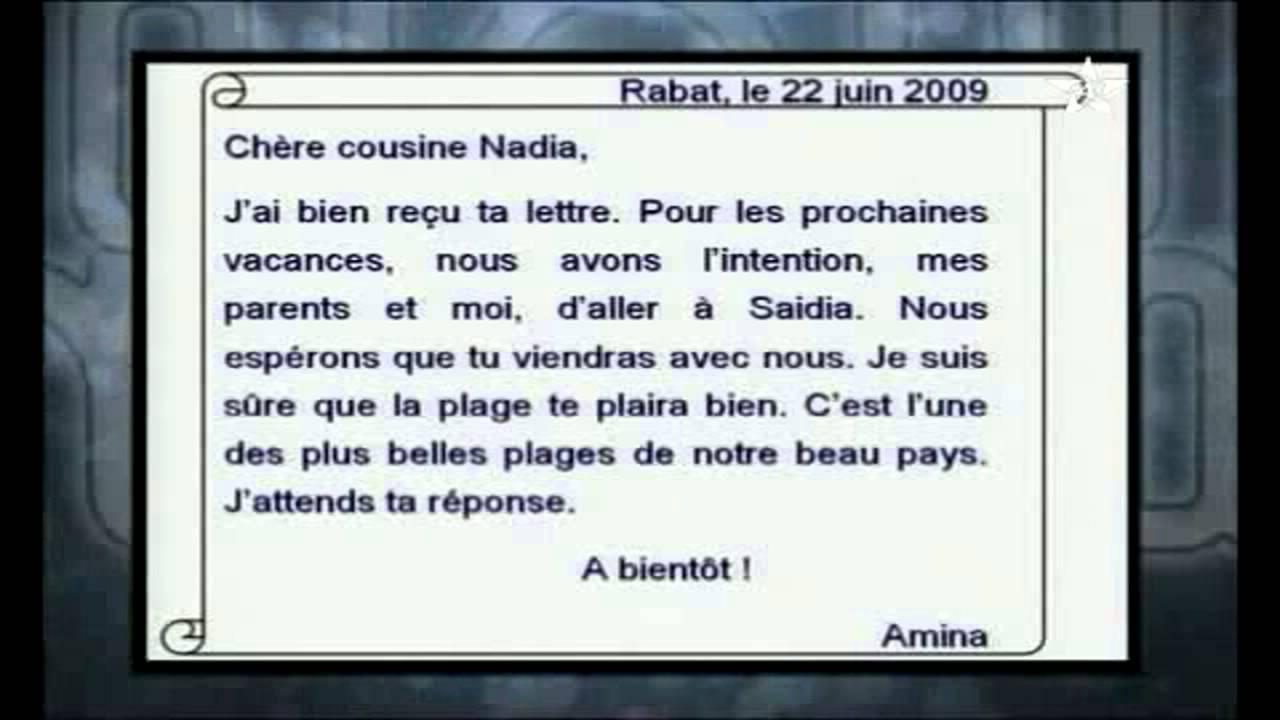 lettre personnelle francais