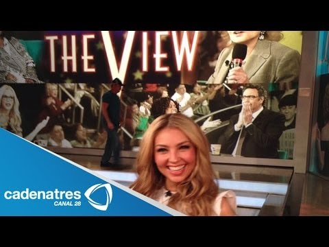 Thalía invitada a conducir The view en Estados Unidos