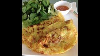 Vietnamese Sizzling Crepe | Bánh Xèo