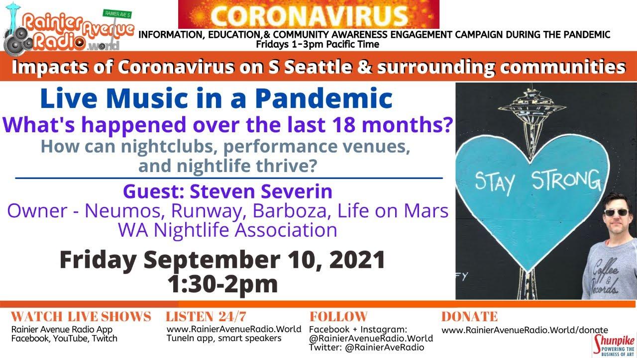 9-10-21 Breast/Ovarian Cancer Awareness + Live Music Venues: Coronavirus Impacts LIVE 1pm