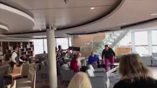 Furniture Flying Inside Norwegian Cruise Ship Caught In Violent Storm