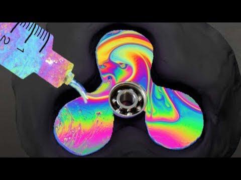 DIY RARE RAINBOW METAL FIDGET SPINNER! ( BISMUTH ) | NICOLE SKYES