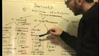 Урок 39. Латинский язык. Словообразование прилагательных