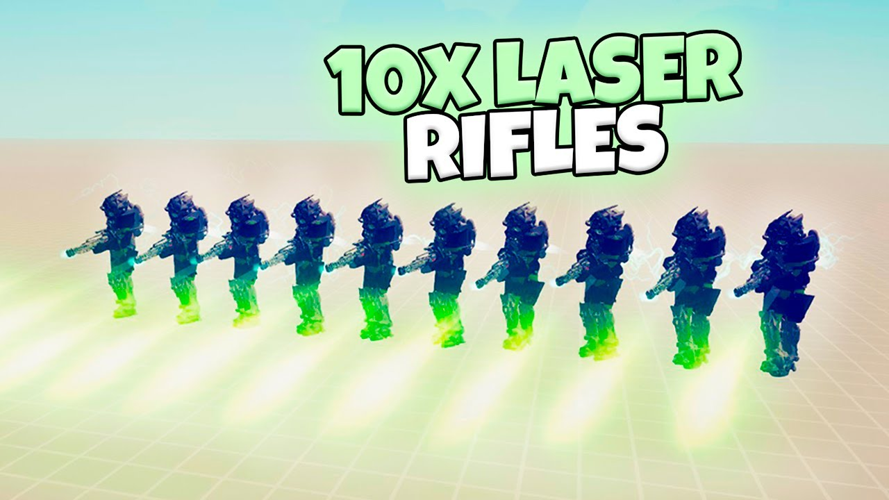 10X LASER RIFLES VS EVERY FACTION. SPACE WARRIORS | TABS MODDED GAMEPLAY