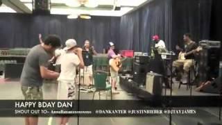 Justin Bieber sang to Dan Kanter- Happy Birthday, Dan the Man!