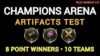 Injustice 2 Mobile 3.5 - Champions Arena - Artifacts Test - 8 Point Winners - 10 Teams
