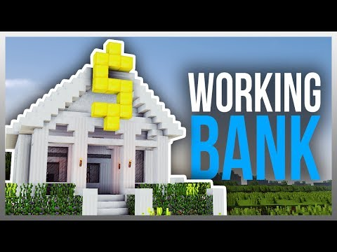 ✔️ Working REDSTONE BANK in Minecraft!