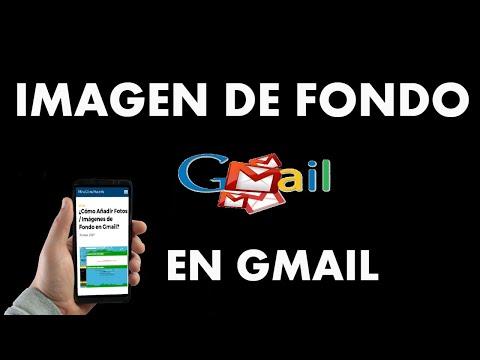 ¿Cómo Añadir Fotos / Imágenes de Fondo en Gmail?