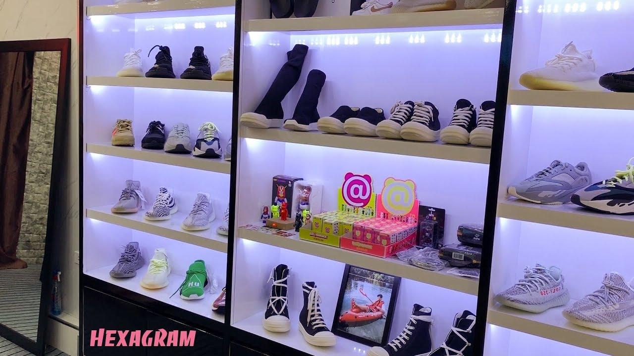 Đi thăm một shop giày chính hãng đa dạng : đắt có, rẻ có