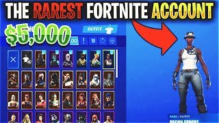 The RAREST Fortnite Account is Over $5,000... (RECON EXPERT)
