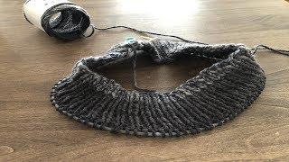 【腹巻帽子】編み始めました☆2玉分編みました thumbnail