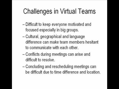 10 Common Virtual Team Challenges