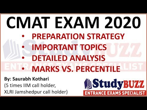 CMAT Exam 2020   Important Topics, Prep Strategy, Detailed Analysis, Marks Vs. Percentile