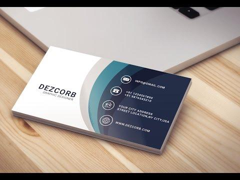 Business card design in photoshop cs6 | Back | Blue