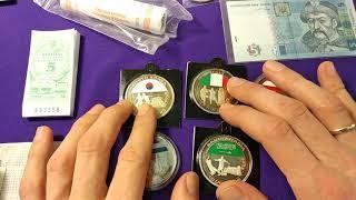 Цена банкноты 50 гривен 2011 5 2004 Либерия 2005 футбол набор монет чистка из серебра