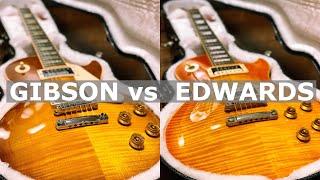 レスポール比較 GIBSON vs EDWARDS ギブソン 検索動画 15