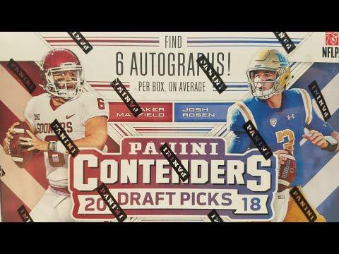 2018 Panini Contenders Draft PicksFootball Hobby Box. 6 Autos per Box