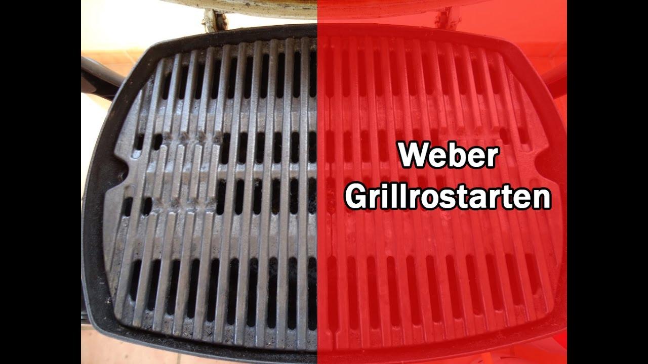 Weber Elektrogrill Rost Reinigen : Weber grillrost unterschiede weber q youtube