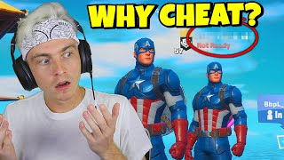 *NEW CAPTAIN AMERICA SKIN* Cheated in my Fortnite Scrim... (should he get $?)
