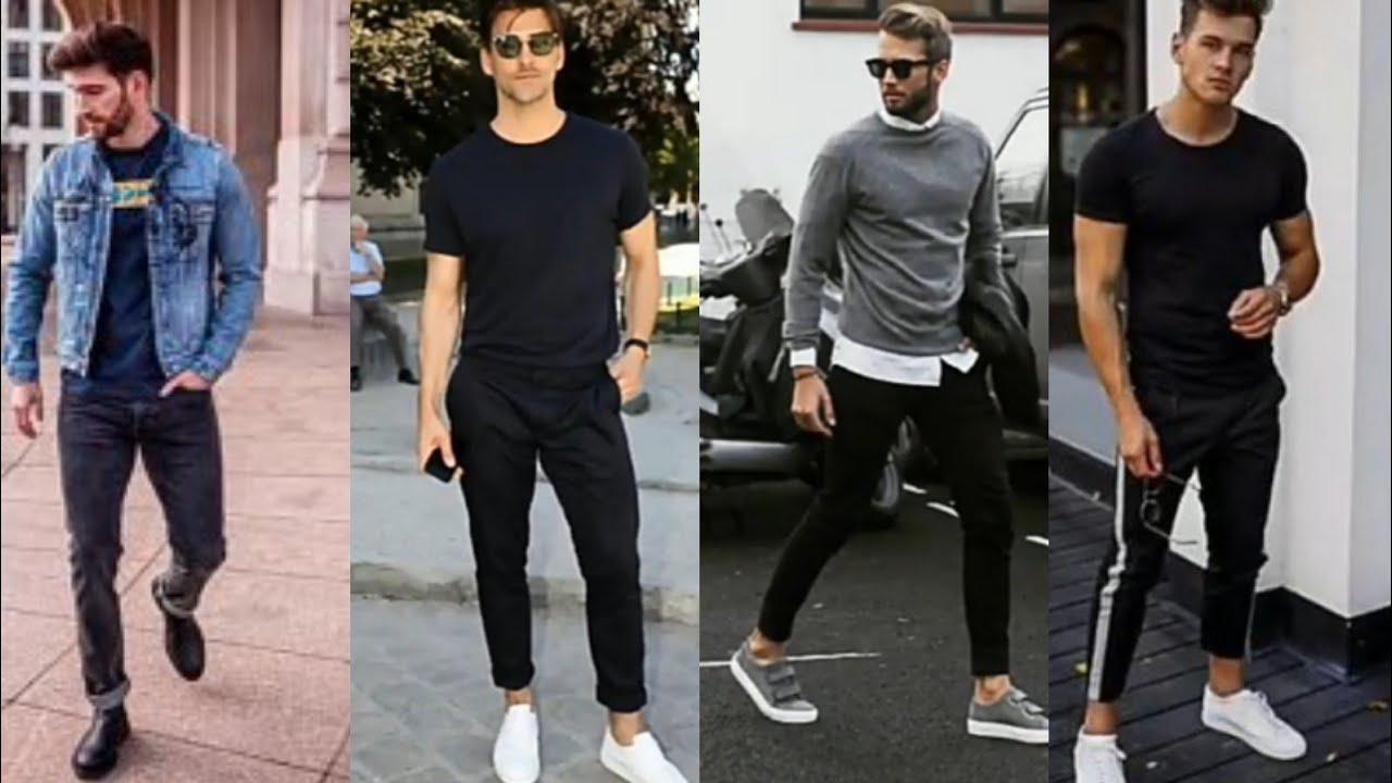 Ideas De Outfits Casuales Con Jeans Pantalon De Color Negro Para Hombre En Tendencia 2020 2021 Youtube