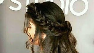 Beautiful and easy hairstyles on eid 2018
