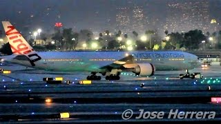 Plane Spotting at LAX Night Time Edition