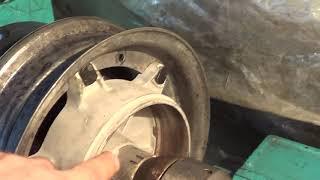 Тулица 02М ремонт, правка диска