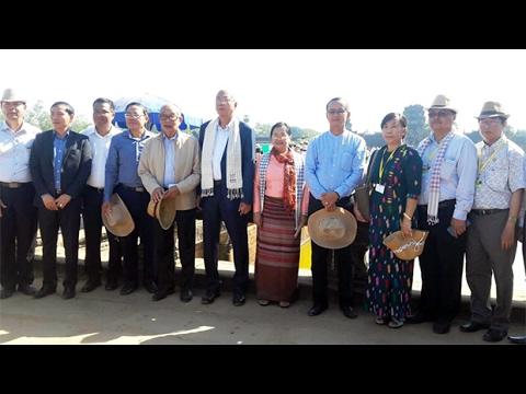 05 FEB 2017 Myanmar President and his spouse visit Angkor Wat  in Siem Reap province